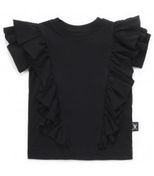 Nununu RUFFLED T-shirt Nununu RUFFLED T-shirt black