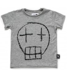 Nununu T-shirt SKETCH SKULL Nununu T-shirt SKETCH SKULL embroidery black