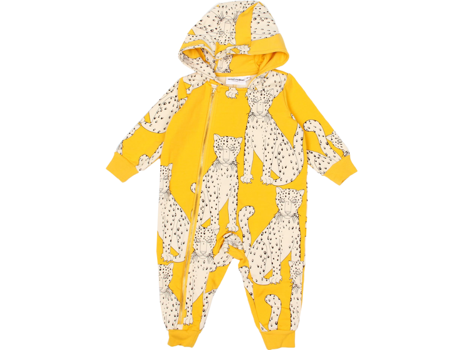 cd0614bd431c Mini Rodini Snow Leopard Onesie - Orange Mayonnaise
