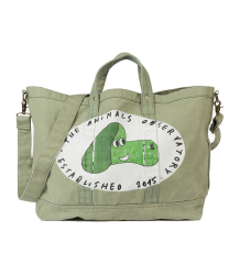 The Animals Observatory Big Canvas Tote Bag DOG The Animals Observatory Big Canvas Tote Bag DOG