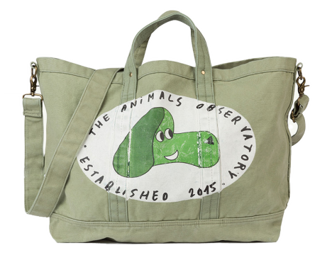 The Animals Observatory Big Canvas Tote Bag DOG
