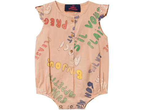 The Animals Observatory Butterfly Babies Jumpsuit WORDS