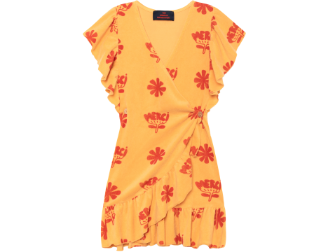 The Animals Observatory Whale Kids Dress FLOWERS