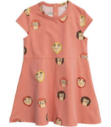 Mini Rodini MONKEYS aop SS Dress Mini Rodini MONKEYS aop SS Dress