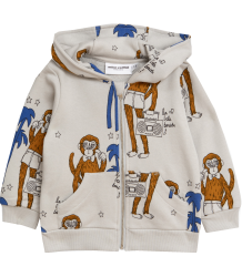 Mini Rodini COOL MONKEYS aop Zip Hood Mini Rodini COOL MONKEY aop Zip Hood grey
