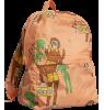 Mini Rodini COOL MONKEY Light Weight Backpack Mini Rodini COOL MONKEY Light Weight Backpack pink