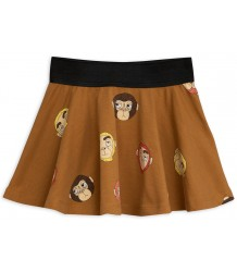Mini Rodini MONKEYS aop Skirt Mini Rodini MONKEYS aop Skirt brown