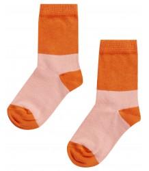 Mingo Socks COLOURBLOCK Mingo Socks COLOURBLOCK peach koi