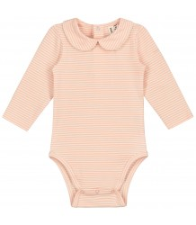 Baby Onesie with Collar STRIPED Gray Label Baby Onesie with Collar STRIPED pop