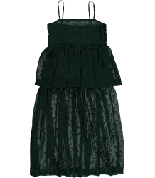 Maxi Layered Dress GLIMMER GREEN Caroline Bosmans Maxi Layered Dress GLIMMER GREEN