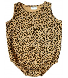 Maed for Mini Yellow LEOPARD Sleeveless Bodysuit Maed for Mini Yellow LEOPARD Sleeveless Bodysuit