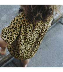 Maed for Mini Yellow LEOPARD Dress Short Sleeve Maed for Mini Yellow LEOPARD Dress Short Sleeve