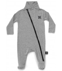 Nununu Diagonal Zip Footed Overall Nununu Diagonal Zip Footed Overall grey