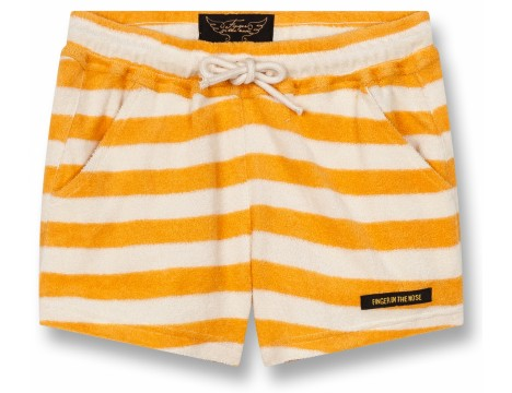 Finger in the Nose Trinity Girl Knitted Mini Shorts STRIPES