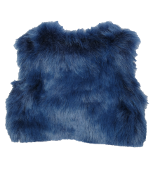 Patrizia Pepe Girls Gilet Fake Fur Patrizia Pepe baby Girls - Gilet Fake Fur in blue