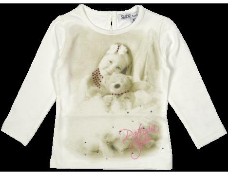 Patrizia Pepe Girls T-shirt Bear