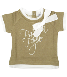 Patrizia Pepe Girls Sweatshirt Short Sleeves - OUTLET Patrizia Pepe Girls Sweatshirt Short Sleeves