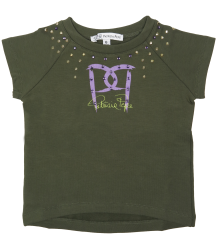 Patrizia Pepe Girls Sweatshirt Short Sleeves - OUTLET Patrizia Pepe Girls Sweatshirt Short Sleeves - green