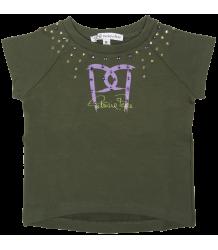 Sweatshirt Short Sleeves - OUTLET Patrizia Pepe Girls Sweatshirt Short Sleeves - green