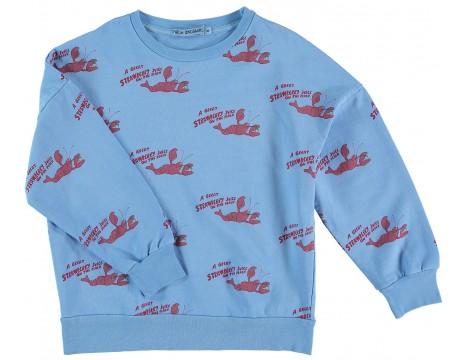 Fresh Dinosaurs Sweatshirt STRAWBERRY JUICE aop