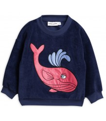Mini Rodini WHALE Terry Sweatshirt Mini Rodini WHALE Terry Sweatshirt