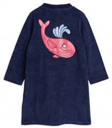 Mini Rodini WHALE Terry Robe Mini Rodini WHALE Terry Robe