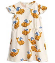 Mini Rodini WHALE aop Wing Dress Mini Rodini WHALE aop Wing Dress