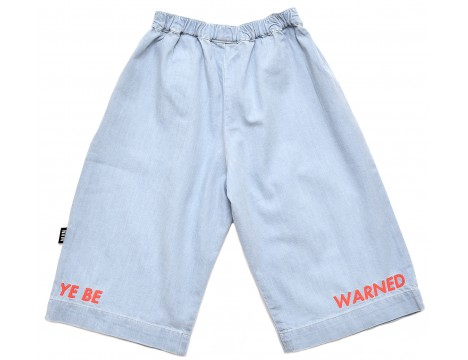 Little Man Happy YOU BE WARNED Cropped Pants