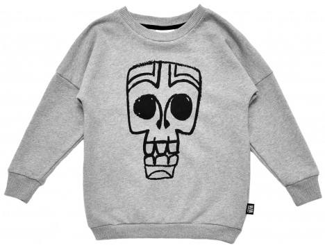 Little Man Happy TIKI MASK Loose Sweater