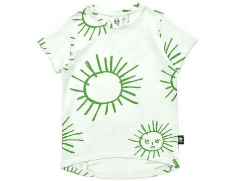 Little Man Happy GREEN SUN Longline Shirt