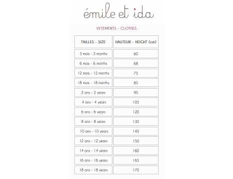 Emile et Ida Terry Sweat Baby Cardigan
