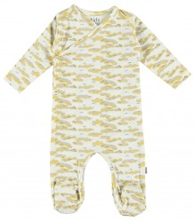 Philly Organic NB Footed Suit Kidscase Philly Organic NB Footed Suit yellow