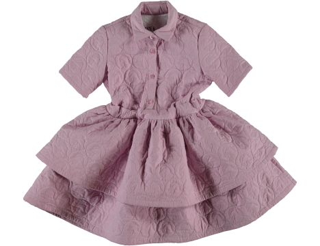 Caroline Bosmans Cell Layered Dress CHICKEN