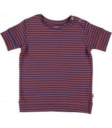 Sol Organic T-shirt Kidscase Sol Organic Kids T-shirt  stripes brown and blue