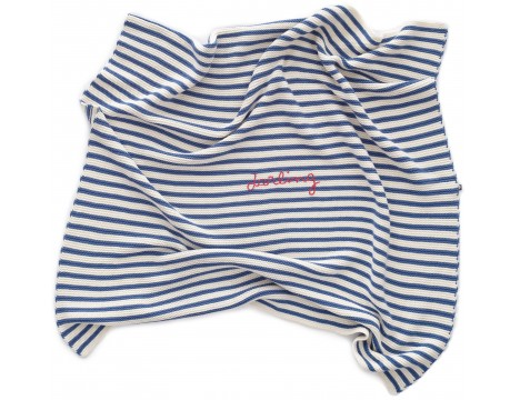 Oeuf NYC Striped Blanket DARLING
