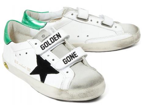 Golden Goose Superstar Old School GOLDEN GANG Shiny Green