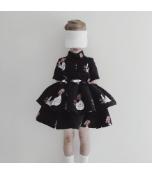 Caroline Bosmans Poppy Nose Spray Layered Dress CHICKEN Caroline Bosmans Poppy Nose Spray Layered Dress CHICKEN