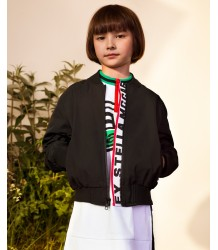 Stella McCartney Kids STELLA Logo Tape Bomber Jacket Stella McCartney Kids STELLA Logo Tape Bomber Jacket