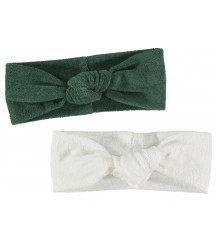 Yporqué Towel Turban (Pack of 2) Yporque Towel Turban (Pack of 2), green and white
