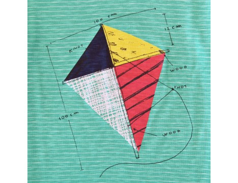Barn of Monkeys Printed SS T-shirt KITE