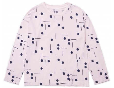 Barn of Monkeys Printed LS T-shirt DOTS