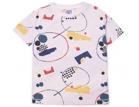 Barn of Monkeys Printed SS T-shirt GRAPHIC SHAPES