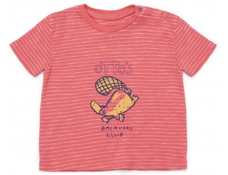 Barn of Monkeys Printed Baby T-shirt SS OTTER