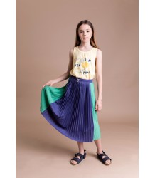 Barn of Monkeys Pleated Midi Skirt Barn of Monkeys Pleated Midi Skirt blue