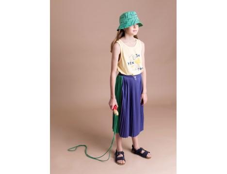 Barn of Monkeys Pleated Midi Skirt