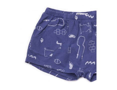 Barn of Monkeys Printed Baby Shorts GAMES