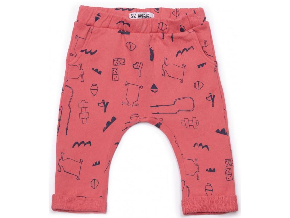 8e82d2ee7ddac Barn of Monkeys Printed Baby Pants GAMES - Orange Mayonnaise