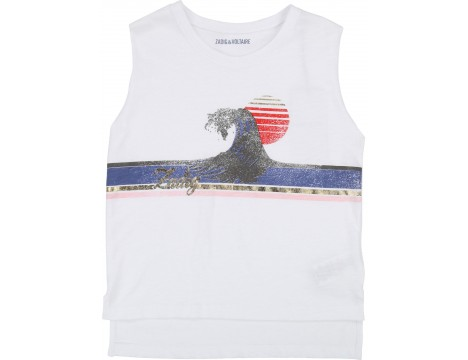 Zadig & Voltaire Kids Sleeveless T-shirt WAVE
