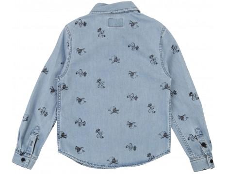 Zadig & Voltaire Kids Jeans Shirt TATTOO aop
