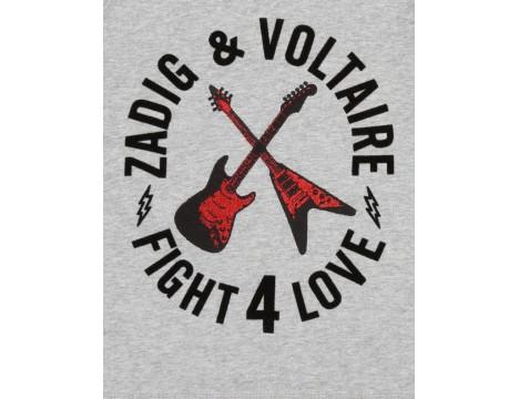 Zadig & Voltaire Kids Sweat Shirt FIGHT 4 LOVE